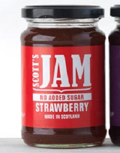 scotts strawberry no sug jam