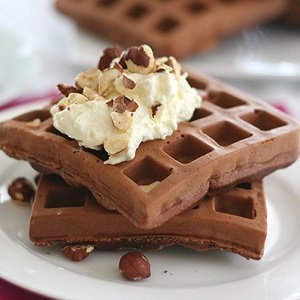 REDUCED SUGAR CHOCOLATE WAFFLE